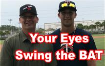 The Eyes Swing the Bat Language Of Hitting Dave Kirilloff Alex Kirilloff Hitting Drills for TIMING baseball training online hitting coach mike trout swing